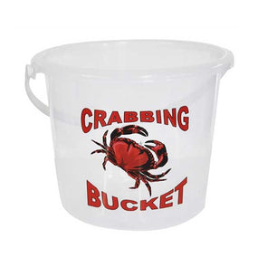 9 Litre Clear Crab Bucket