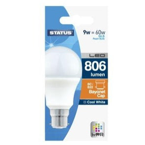 LED 60w Bayonet Cap Cool White Bulb