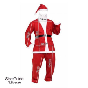 Adult deluxe Santa Suit Size Guide