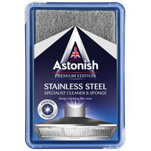 Astonish Stainless Steel Specialist Cleaner & Sponge 250g