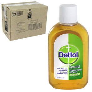 Dettol Antiseptic Disinfectant Liquid Original 250ml - Case of 12