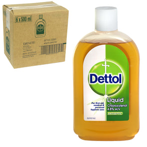 Dettol Antiseptic Disinfectant Liquid Original 500ml - Case of 6