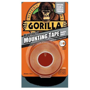 Gorilla Clear Mounting Tape 1.52m