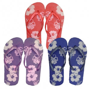 Ladies Floral Flip Flop 3-8 UK