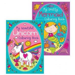 Unicorn & Mermaid Colouring Book