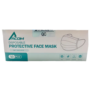 RCOM Quality Face Masks 3ply 50 Pack
