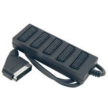 Scart Plug to 5 Scart Socket