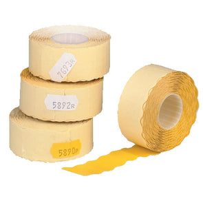 Yellow Pricing Labels Rolls