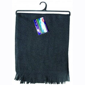 Unisex Black Polar fleece scarf