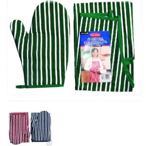 Single Oven Mitt and PVC Lined Apron Set
