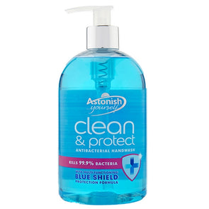 Astonish Antibacterial Handwash Clean & Protect Blue Shield 500ml