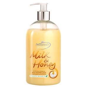 Astonish Handwash Milk & Honey Antibacterial 500ml
