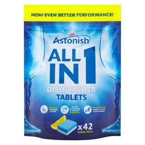 Astonish All in 1 Dishwasher 5 in 1 Tablets 42 Pack