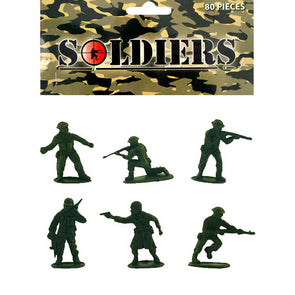 80 piece bag of Plastic Toy Soldiers