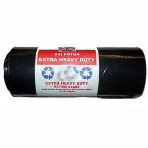 Roll of 50 extra heavy duty black bags refuse sacks Buy British