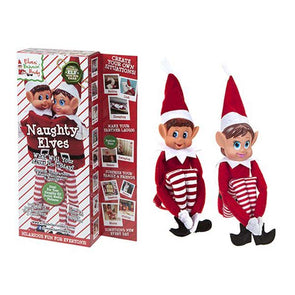 "12"" 2 Pack Elfs Behaving Badly"