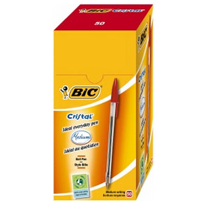 BiC Ballpoint Pen Cristal Red Medium 50 Pack