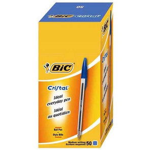 Box Of 50 Bic Crystal Ball Point Pen Blue