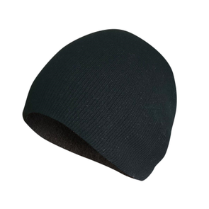 Adult Black Beanie Hat