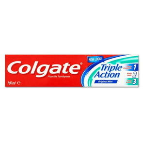 Colgate Toothpaste Triple Action Original Mint 100ml - Case of 12