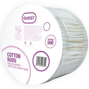 Quest Cotton Buds 500 Pack - Case of 6