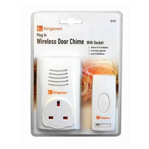 Plug in Wireless Door Chime with socket Door Bell