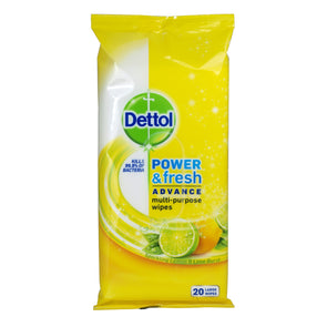 Dettol Large Antibacterial Wipes Lemon