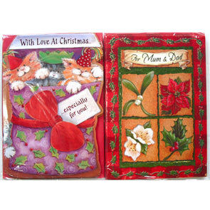 20 packs of 6 Christmas cards