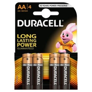 Duracell AA Battery 4 Pack - Case of 20