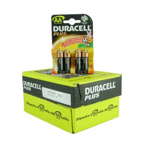 Duracell PLUS AA with 4 batteries on each card