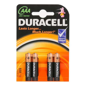 Duracell Basic AAA Battery 4 Pack - Case of 10