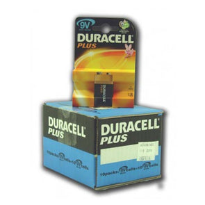 Duracell Plus Battery 9V size - Case of 10