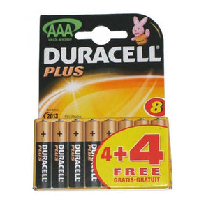 Duracell Plus AAA Battery 4 Pack - Case of 10