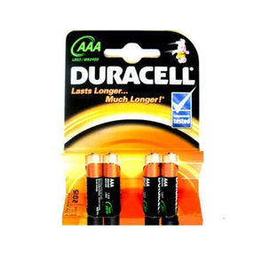 A Pack of 4 Duracell Basic AAA Batteries