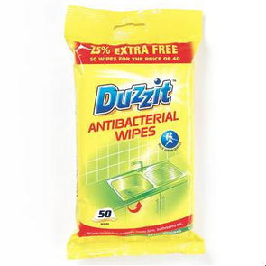Duzzit Antibacterial Wipes 50 Pack