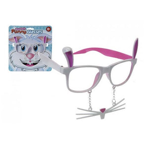 Easter Funny Rabbit Glasses With Whiskers and Teeth