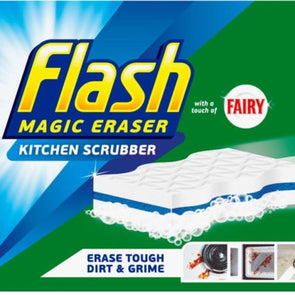 Flash Magic Eraser Kitchen Scrubber 2 Pack