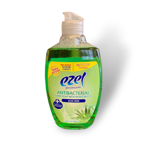 Ezel Antibacterial Hand Wash Soap with Moisturizers Aloe Vera 400ml