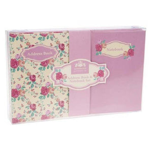 Floral Notebook And Address Book Gift Set