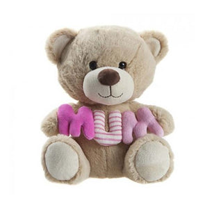 25cm Honey Bear Holding Mum