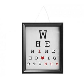 I Love Mum Eye Test Frame