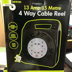 4 WAY CABLE REEL 13 AMP 15 METRE