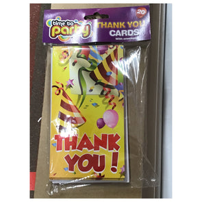 Time to Party Thank You Cards 20 Pack