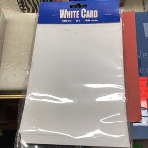 A5 White Card 40 Pieces - Case of 6