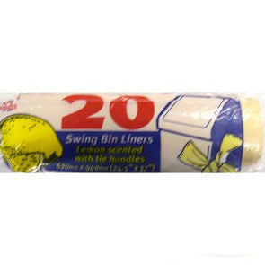Swing Bin Liners Lemon scented roll of 20 bags
