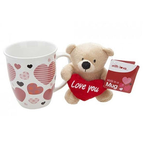 14oz Mug With Love Plush Bear