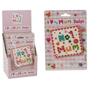 No 1 Mum Rubber Badge