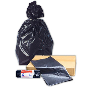20 Extra Heavy Duty Black Bags on a roll Buy British Refuse sacks