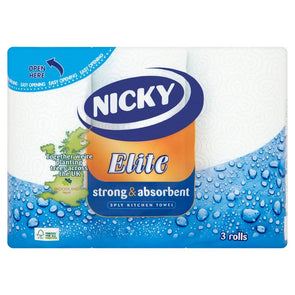 Nicky Elite Kitchen Towel 3 Pack - Case of 5
