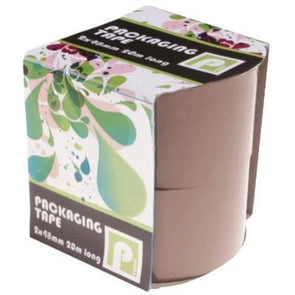 2 Pack of Brown Packaging Tape